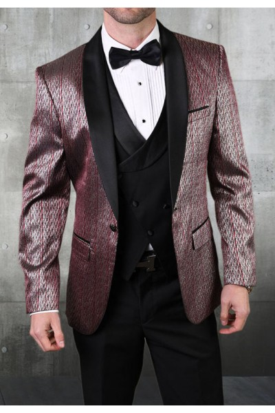 Men's Tux - Tailored Fit - Bellagio-16 Burgundy