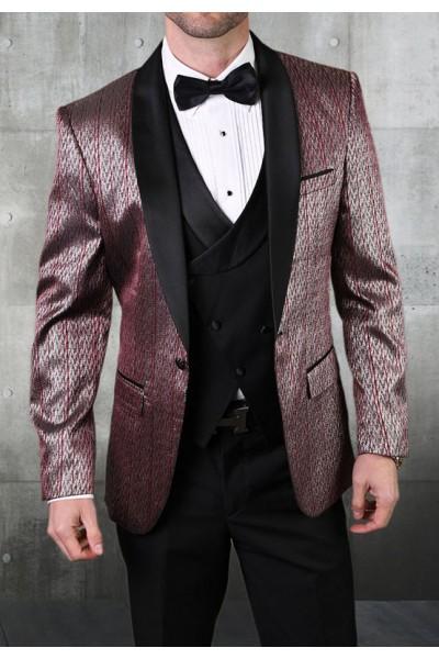 Men's Tux - Tailored Fit - Bellagio-16 Burgundy