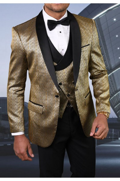 Men's Tux - Tailored Fit - Bellagio-16 Gold a
