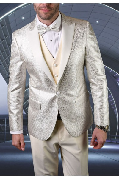 Men's Tux - Slim Fit - Bellagio-20 Off White