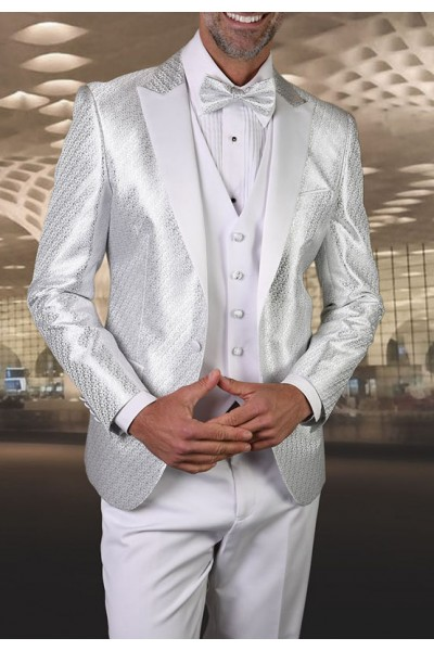 Men's Tux - Slim Fit - Bellagio-20 White