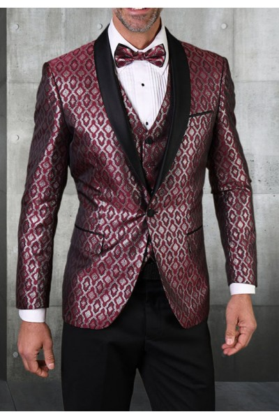 Men's Tux - Tailored Fit - Bellagio-21 Burgundy a