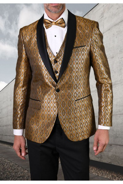 Men's Tux - Tailored Fit - Bellagio-21 Gold a