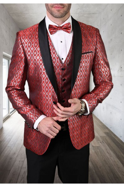 Men's Tux - Tailored Fit - Bellagio-21 Red a