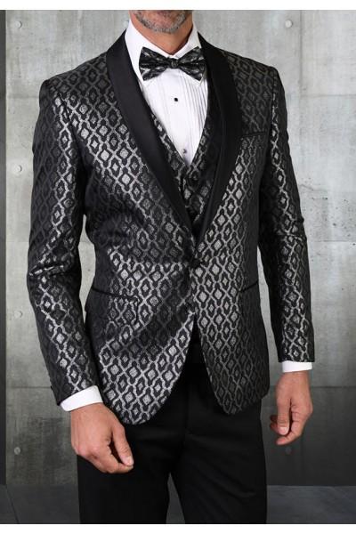Men's Tux - Tailored Fit - Bellagio-21 Black