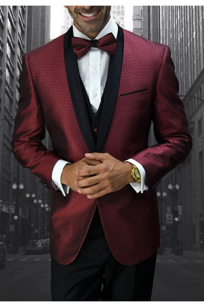 Men's Tux - Slim Fit - Bellagio-6 Burgundy a