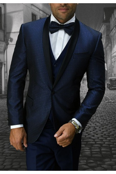Men's Tux - Slim Fit - Bellagio-6 Navy a