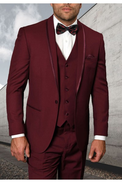 Men's Tux - Tailored Fit - Caesar Burgundy a