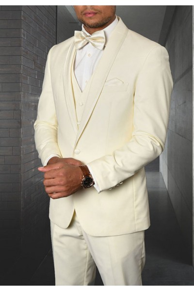 Men's Tux - Tailored Fit - Caesar Off White