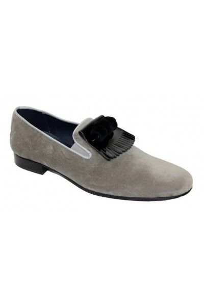 Duca by Matiste Men's Shoes - Made in Italy - Capua Grey Black