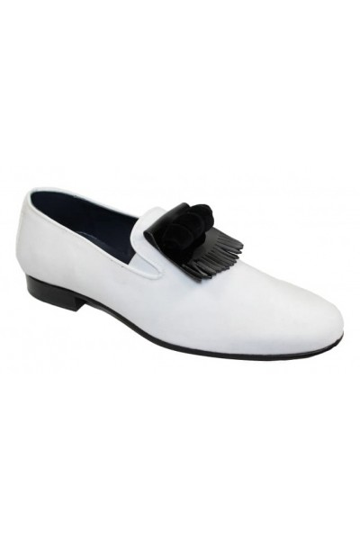 Duca by Matiste Men's Shoes - Made in Italy - Capua White Black a