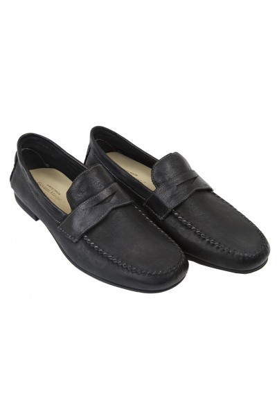 Giovanni Marquez Men's Shoes - Italian Penny Loafer  Black