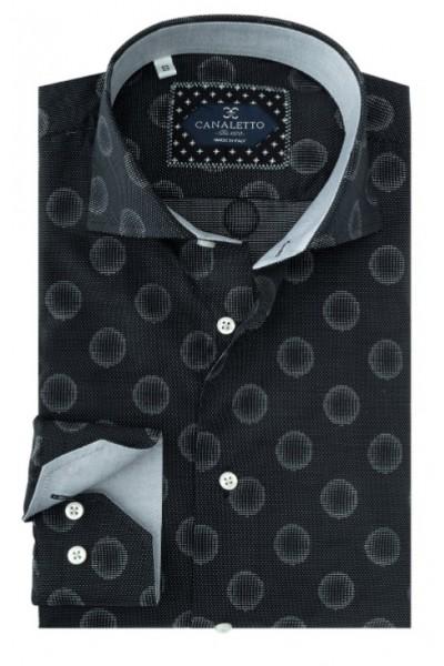 Tiglio / Canaletto L/S Sport Shirt - Black Texture / Dot a