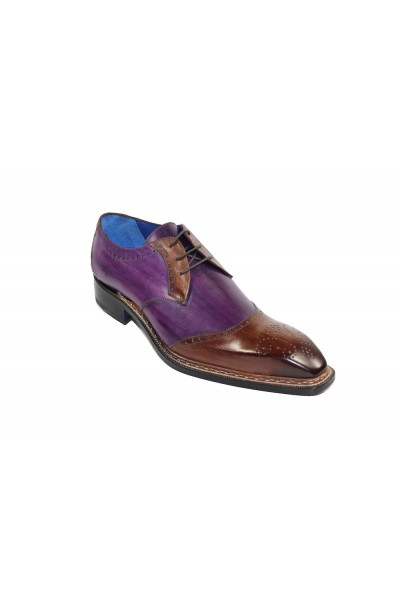 Men's Shoes by Emilio Franco - Brown/Purple