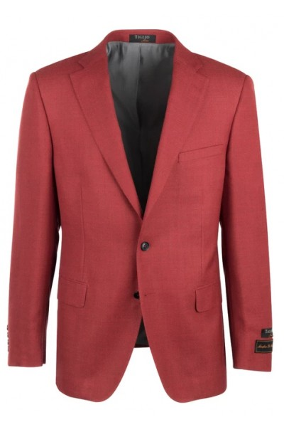 Tiglio Modern Fit Men's Blazer - Dolcetto Sangria Red
