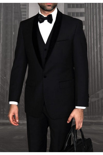 Men's Tux - Tailored Fit - Encore-V Black a