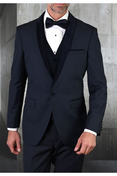 Men's Tux - Tailored Fit - Encore-V Navy a