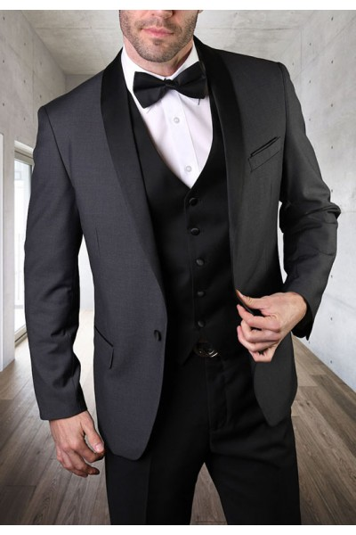 Men's Tux - Tailored Fit - Encore Charcoal a