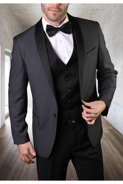 Men's Tux - Tailored Fit - Encore Charcoal a