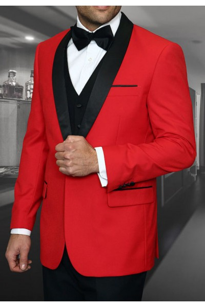 Men's Tux - Tailored Fit - Encore Red a