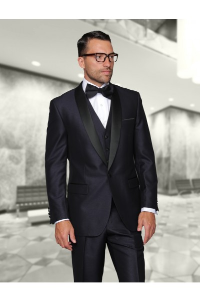 Men's Tux by STATEMENT - Shawl Collar Indigo