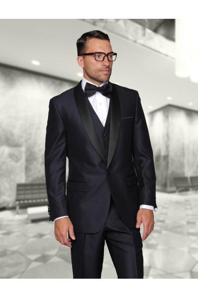 Men's Tux by STATEMENT - Shawl Collar Indigo