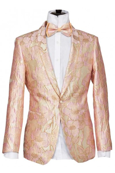 Men's Blazer by Suslo Couture - Pattern / Pink