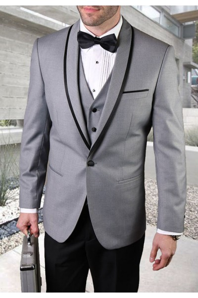 Men's Tux - Tailored Fit - Genova Grey a