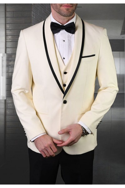 Men's Tux - Tailored Fit - Genova Off White a