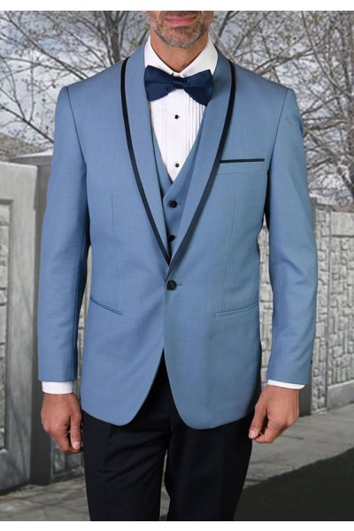 Men's Tux - Tailored Fit - Genova Steel Blue a
