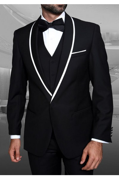 Men's Tux - Tailored Fit - Genova Black