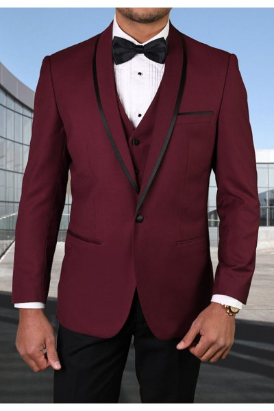 Men's Tux - Tailored Fit - Genova Burgundy a