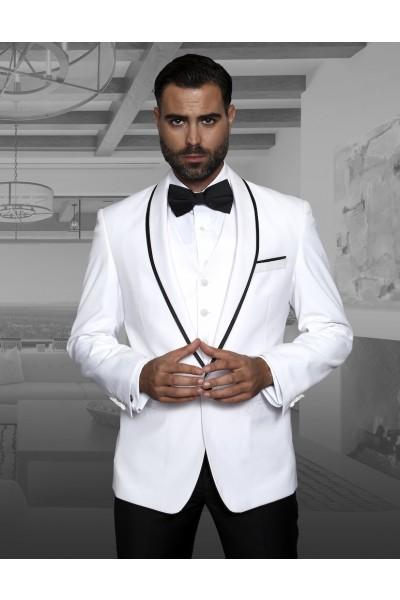 Men's Fashion Tux by STATEMENT - Genova White