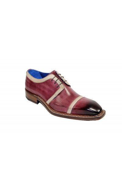 Men's Shoes by Emilio Franco - Burgundy/Bone