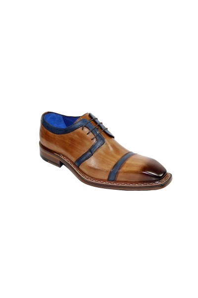 Men's Shoes by Emilio Franco - Cognac/Navy
