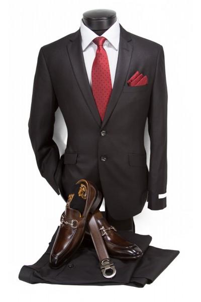 Needle & Stitch Men's Slim Fit 2pc Suit - Black