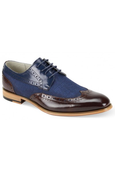 Hunter Men's Shoe by Giovanni - Choc Brown Navy