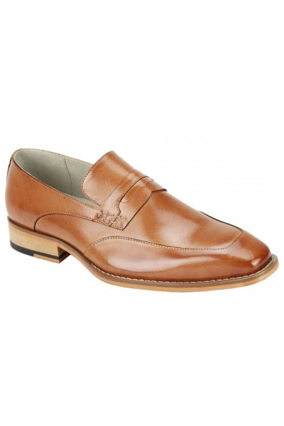 Isaac Slip-On Men's Shoe by Giovanni - Tan