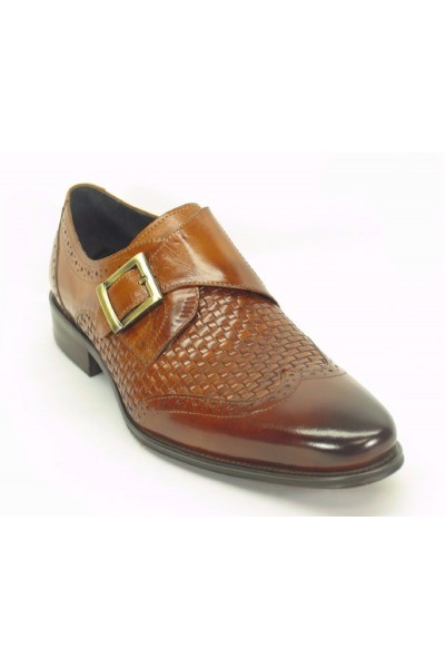 Men's Fashion Shoes by Carrucci - Woven / Buckle Brown