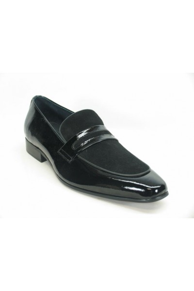 Men's Fashion Shoes by Carrucci - Patent Leather Loafer Black