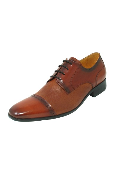 Men's Fashion Shoes by Carrucci - Black Deerskin Lace-Up Oxford a