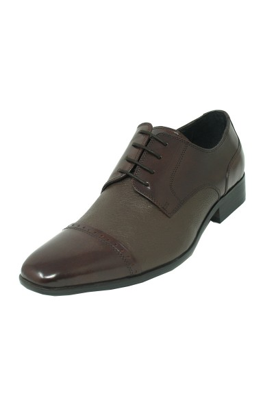 Men's Fashion Shoes by Carrucci - Espresso Deerskin Lace-Up Oxford