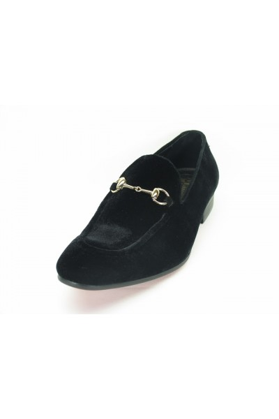 Carrucci Black Velvet Slip On, ks308-101V
