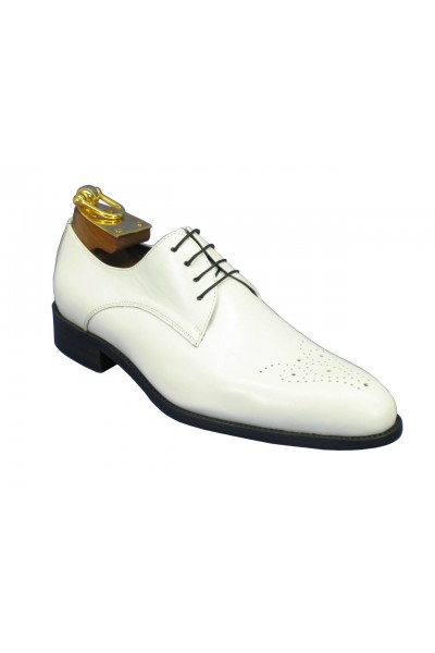 Men's Fashion Shoes by Carrucci - Lace-Up White
