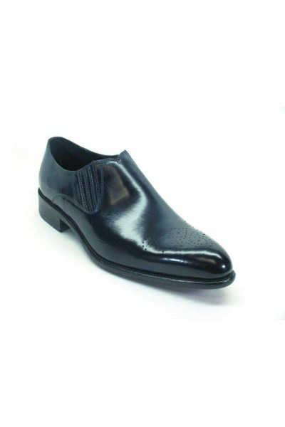 Men's Slip On Leather Loafers by Carrucci - Navy