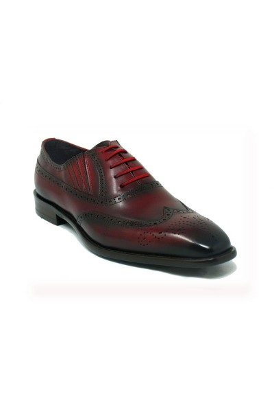 Men's Lace-Up Shoes by Carrucci - Burgundy
