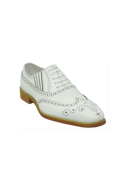 Men's Lace-Up Shoes by Carrucci - White