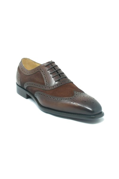 Men's Lace-Up Shoes by Carrucci - Duo Chestnut