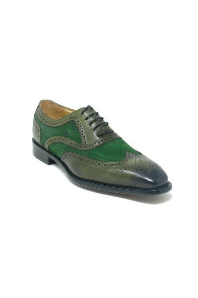 Men's Lace-Up Shoes by Carrucci - Duo Olive