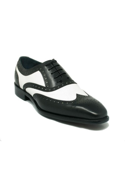 Men's Lace-Up Shoes by Carrucci - Duo Tone BW